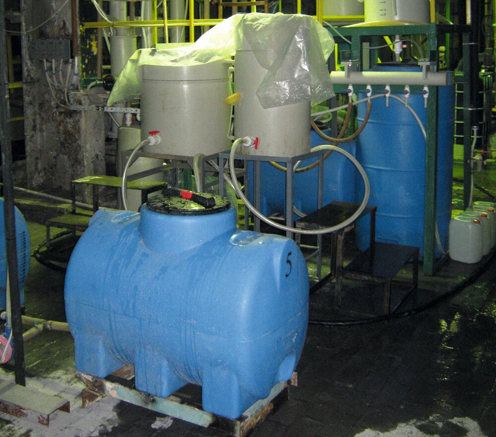 Горизонтально цилиндрическая емкость на опорах , объемом 300 литров , МН 300 ВФК2 , для водоподготовки