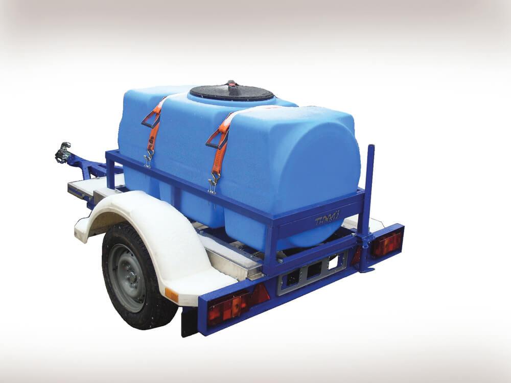 Пластиковый горизонтальный бак на 500 л (Т500 ВФК2) , для перевозки питьевой воды на автоприцепе