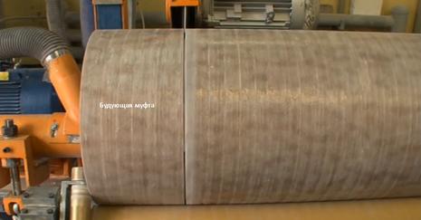 Муфта - отрезок стеклоплатиковой трубы