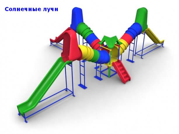Детский игровой комплекс «Солнечные лучи» 1