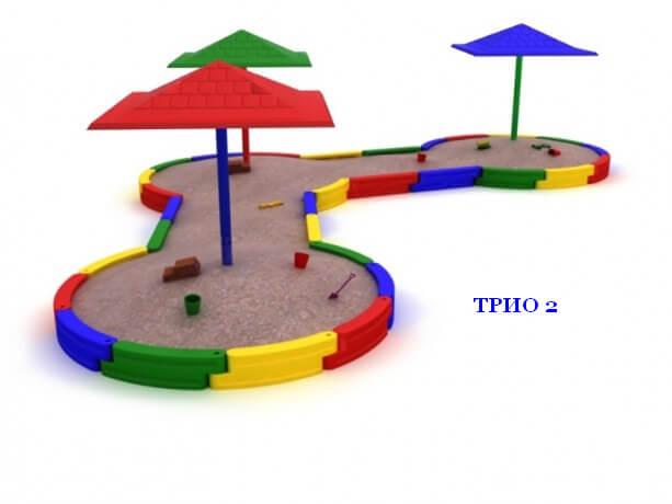 Песочница «Трио-2» 1