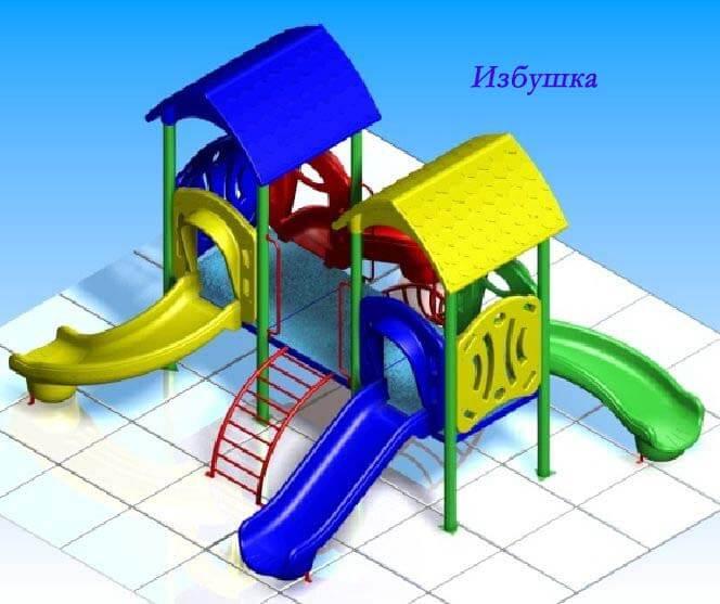 Детский игровой комплекс «Избушка» 1