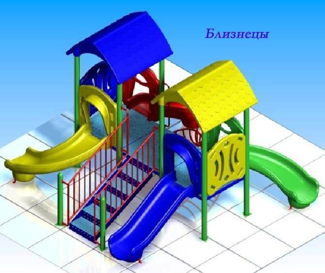 Детский игровой комплекс «Близнецы» 1