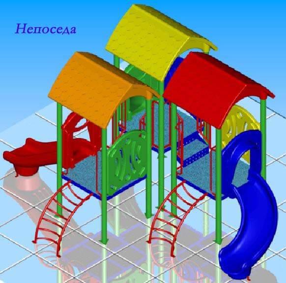 Детский игровой комплекс «Непоседа» 1