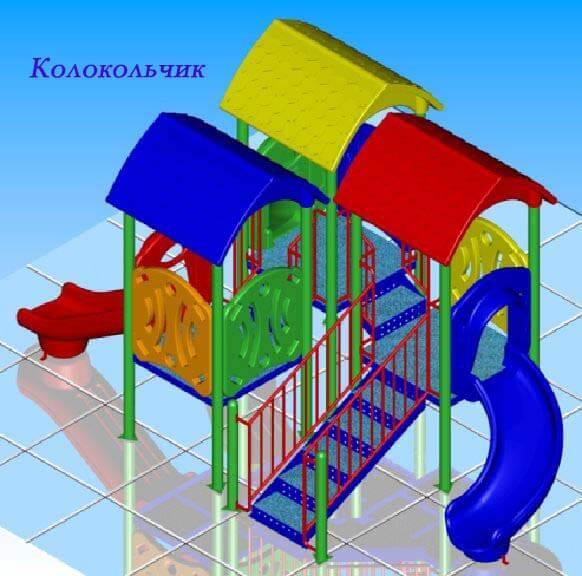Детский игровой комплекс «Колокольчик» 1