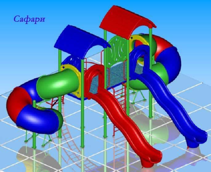 Детский игровой комплекс «Сафари» 1