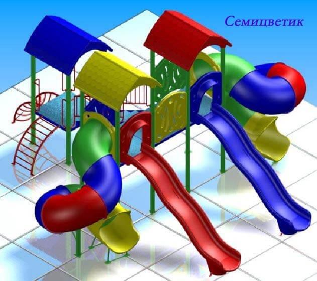 Детский игровой комплекс «Семицветик» 1