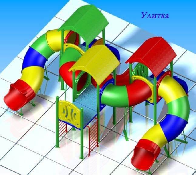 Детский игровой комплекс «Улитка» 1