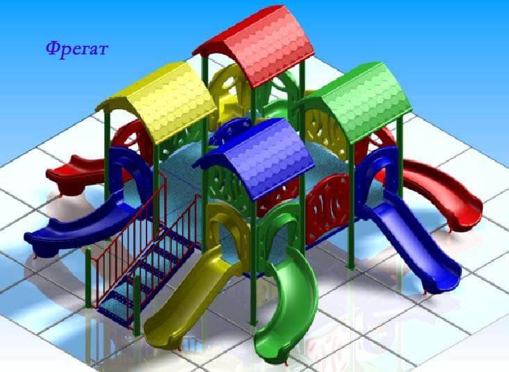 Детский игровой комплекс «Фрегат» 1