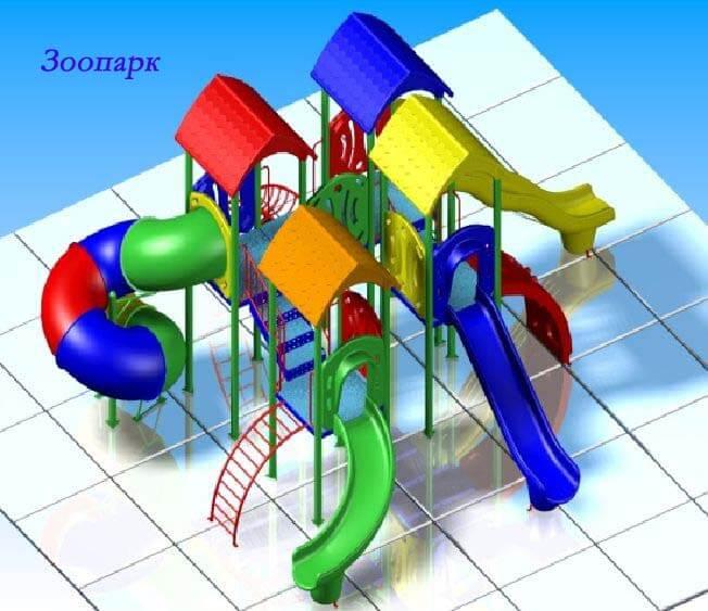 Детский игровой комплекс «Зоопарк» 1