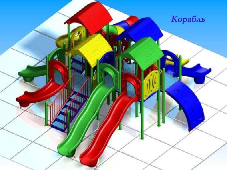 Детский игровой комплекс «Корабль» 1