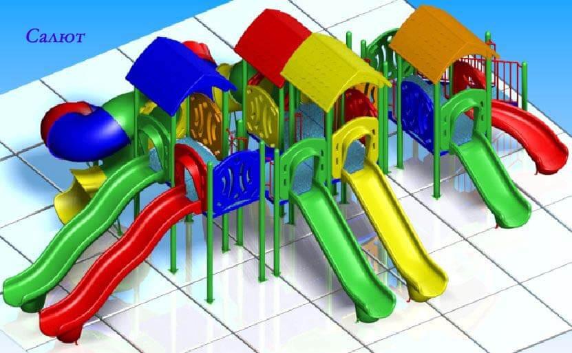 Детский игровой комплекс «Салют» 1