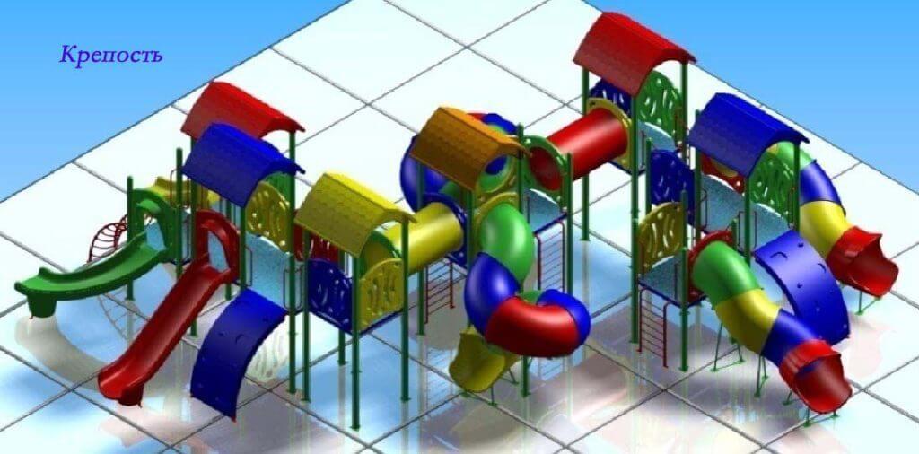 Детский игровой комплекс «Крепость» 1