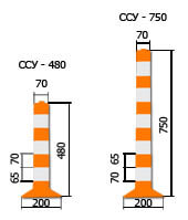 Гибкий парковочный столбик ССУ-480 1