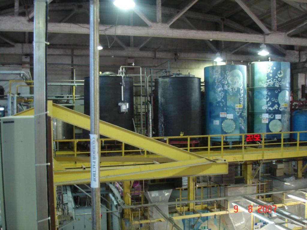 Полиэтиленовые цилиндрические емкости на 15 000 л ( SB17-1ВФК2), для системы водоподготовки гальванического цеха