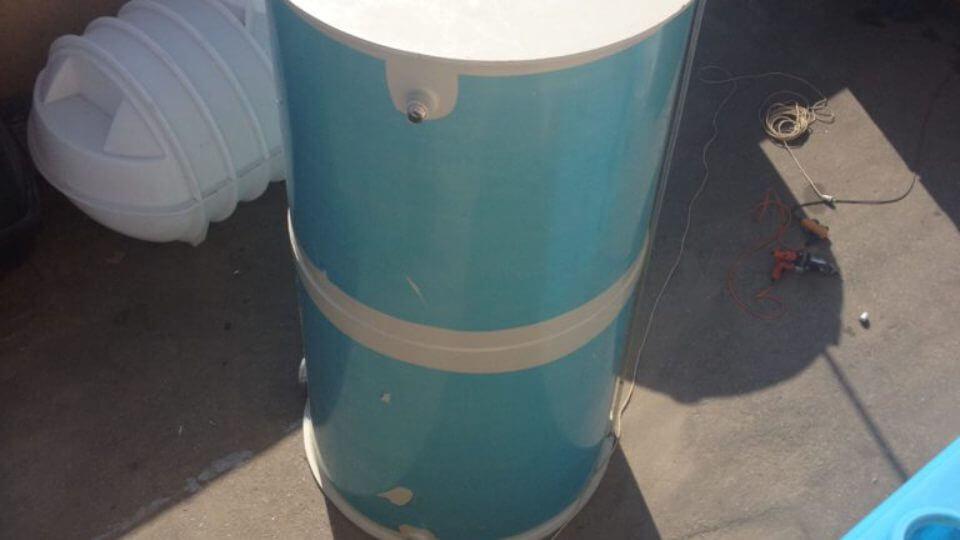 Фото №1. Емкость из ПП на 3 м³ 1200х3000 мм (техн. вода). (Вид 1)
