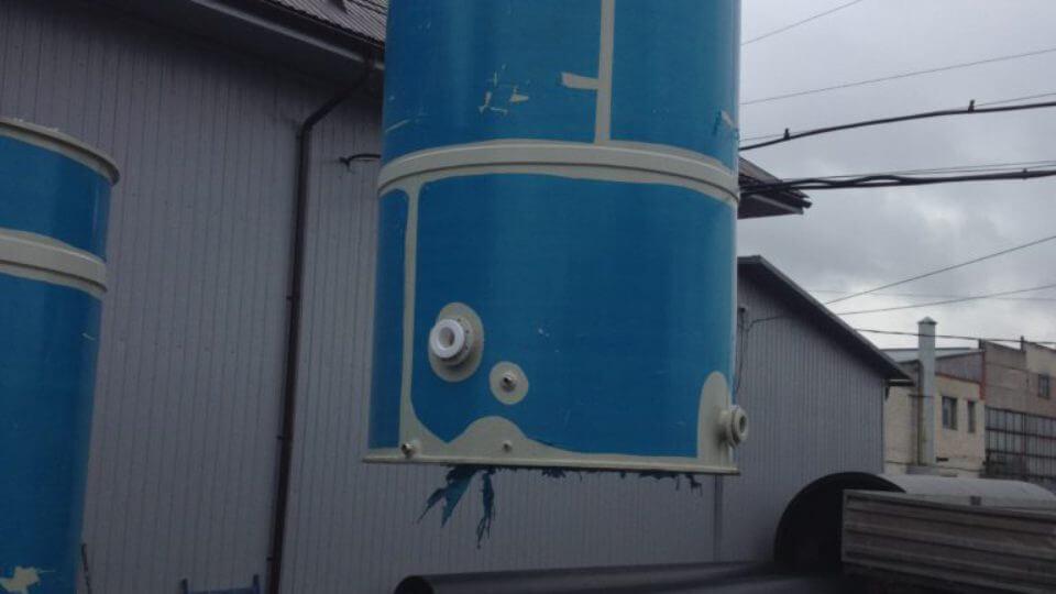 Фото №1. Емкость из ПП Ø2060 Н 3600 на 10 м³ для питьевой воды. (Вид 1)