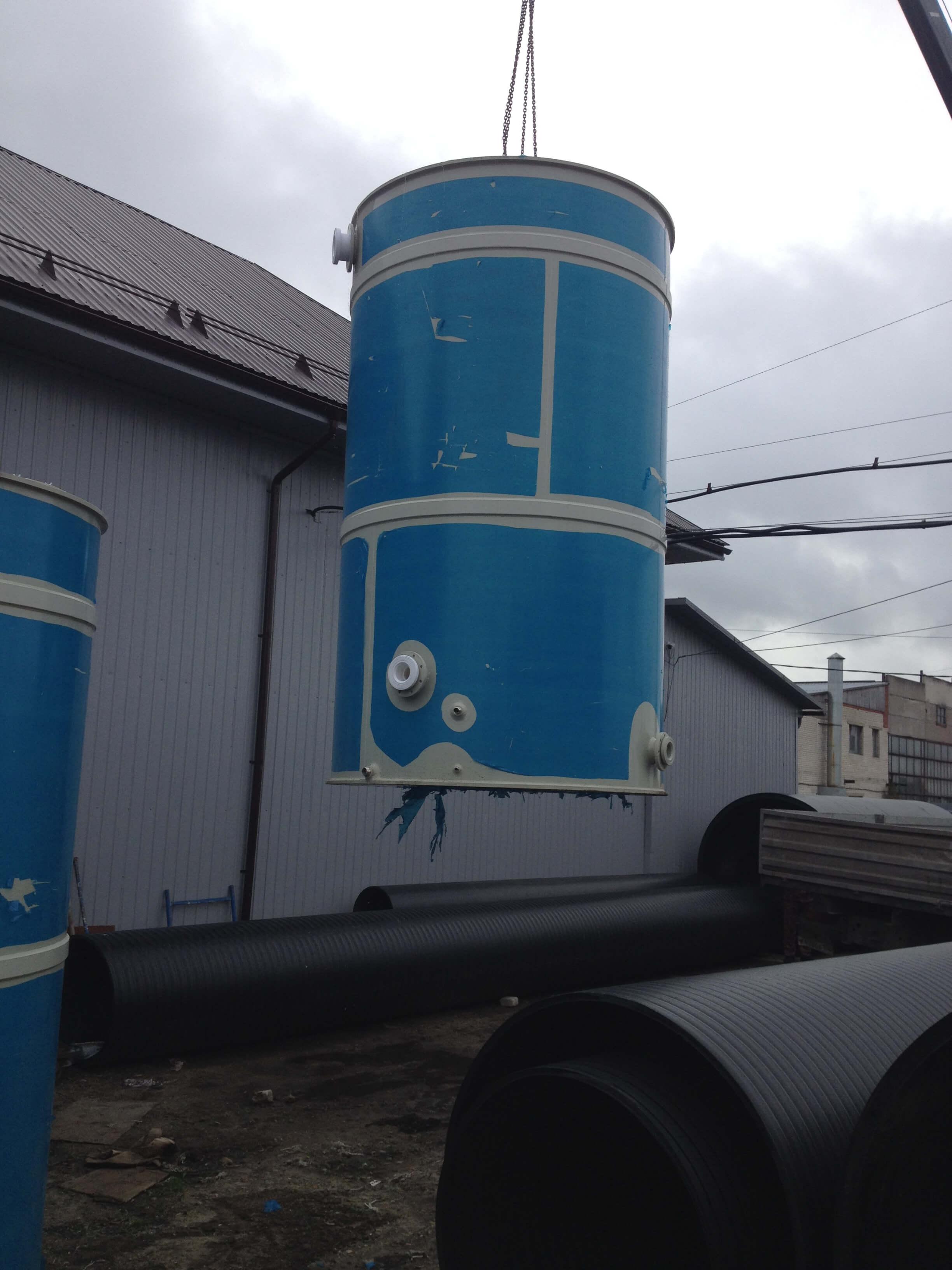 Фото №1. Емкость из ПП Ø2060 Н 3600 на 10м3 для питьевой воды. (Вид 1)