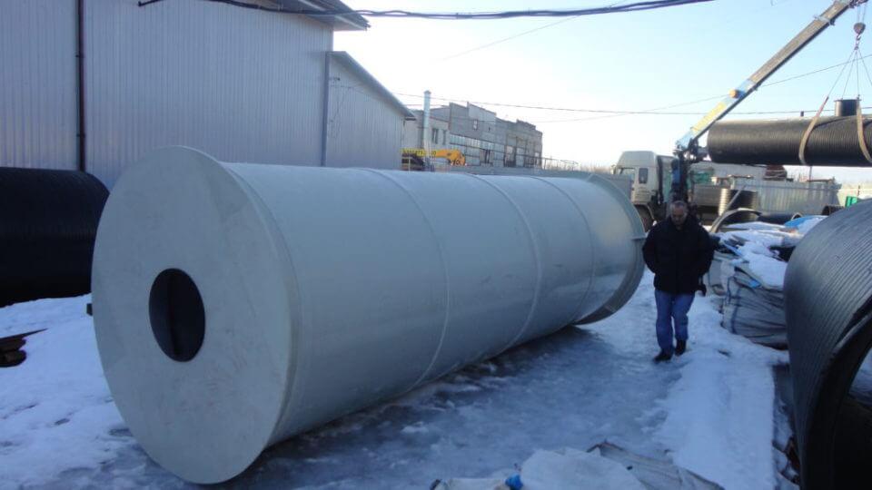 Фото №1. Емкость из ПП вода на 20 м³ 2000х6200 мм для питьевой воды. (Вид 1)
