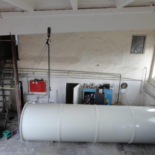 Емкость из ПП Ø1600 мм Н=5800 мм на 11,65 м³ для технической воды