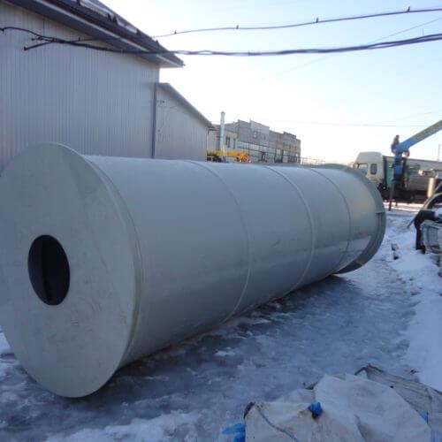Емкость из ПП вода на 20 м³ 2000х6200 мм для питьевой воды