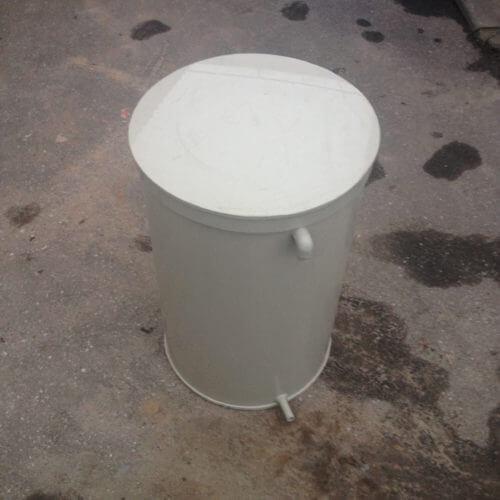 Емкость из ПП на 600 л со съемной крышкой