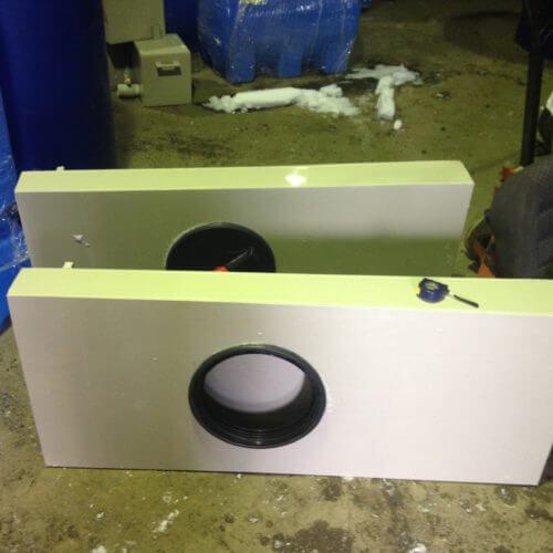 Бак для хранения холодной питьевой воды объемом 125 литров с крышкой 1400х600х150
