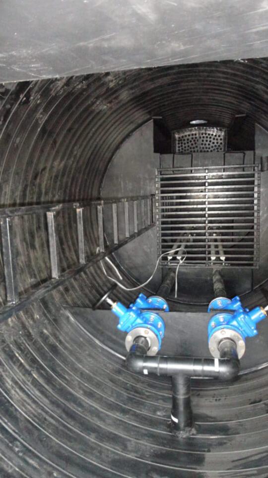 Фото №1. Комплектная канализационная насосная станция Germes-Plast KNS ПЭ 2/6. (Вид 1)