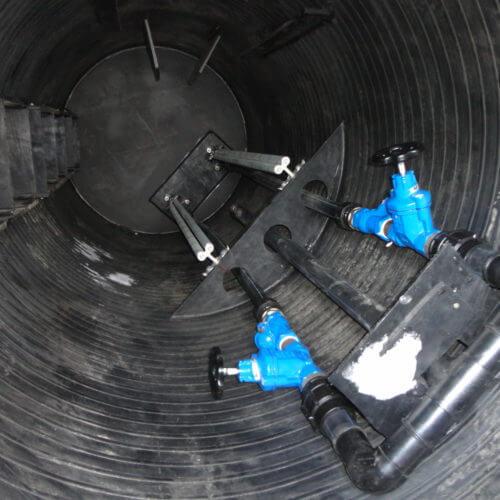 Комплектная канализационная насосная станция Germes-Plast KNS ПЭ 1,5-4