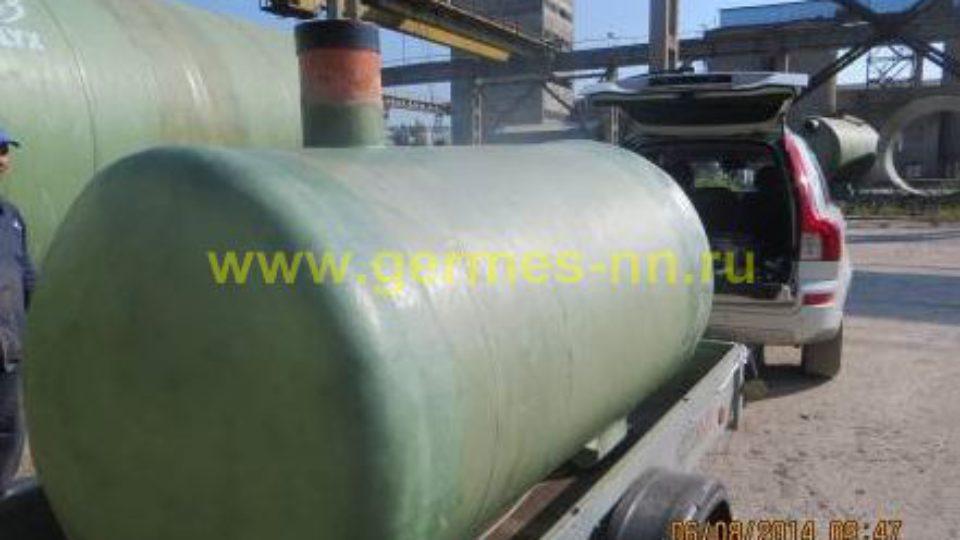 Емкость для сбора фекальных стоков на 4 м³ Ø1500 L 2500