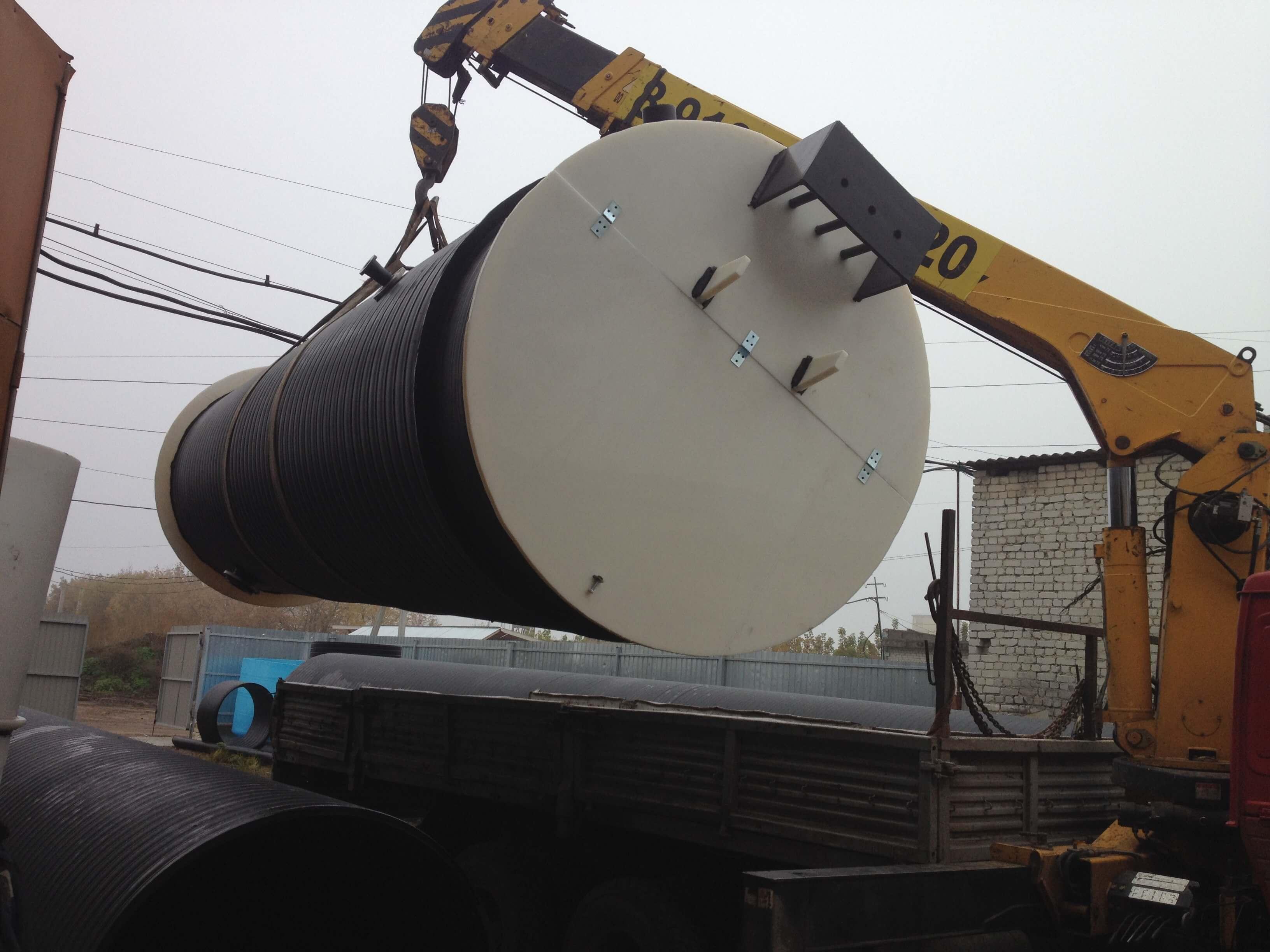 Фото №1. Комплектная канализационная насосная станция Germes-Plast KNS ПЭ 1,5/6,5. (Вид 1)
