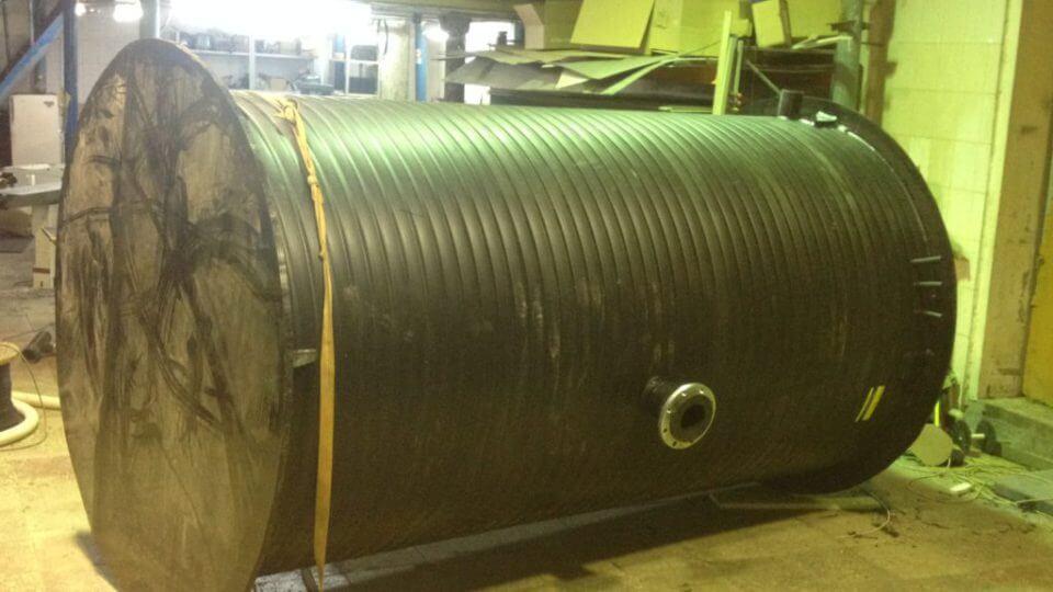 Фото №1. Комплектная канализационная насосная станция Germes-Plast KNS ПЭ 1,8/3. (Вид 1)