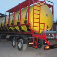 Стеклопластиковые накопительные емкости под питьевую воду объемом 80м3 Ф 3200 мм L 10 000 мм