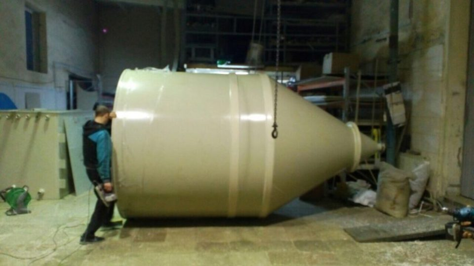Пластиковый бункер объемом 8,5 м³