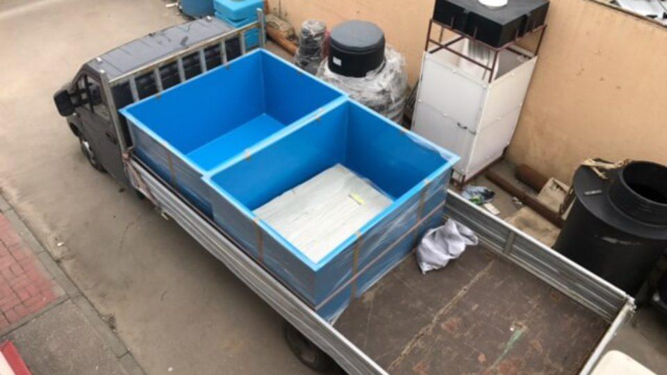 Фото №1. Ванна–вставка в металлическую корзину для выращивания рыбы. (Вид 1)