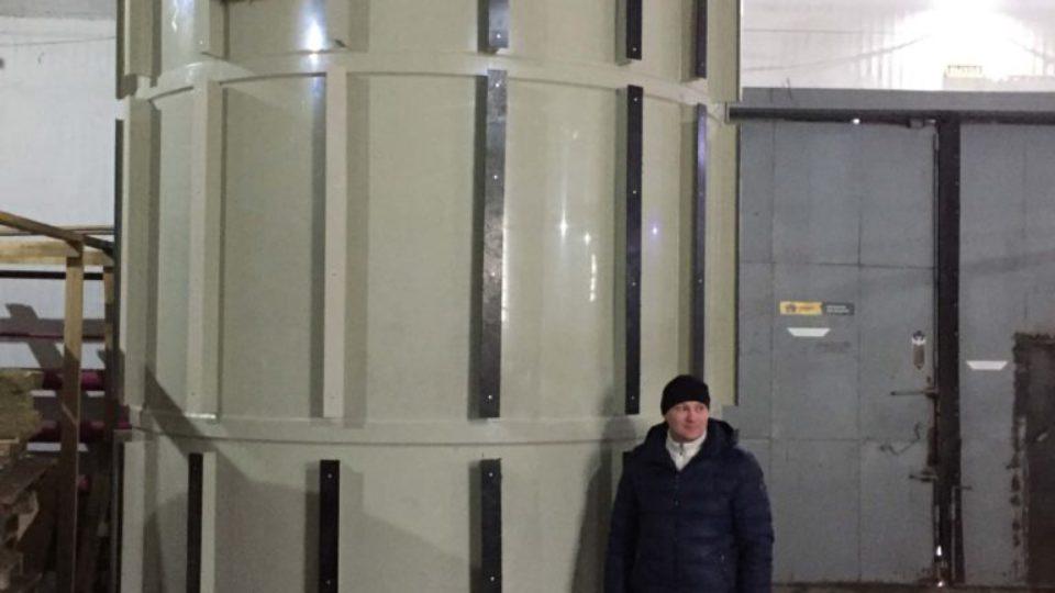 Фото №1. Емкость 30 кубов из полипропилена для ГВС с утеплением. (Вид 1)