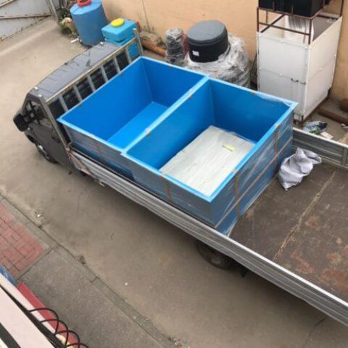 Ванна–вставка в металлическую корзину для выращивания рыбы
