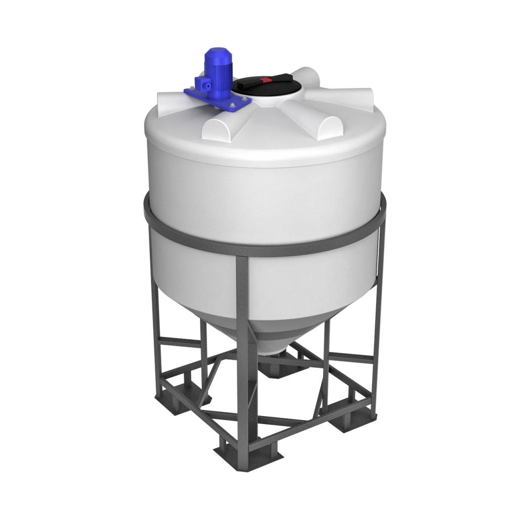 Емкость ФМ 1000 литров в обрешетке с турбинной мешалкой 1