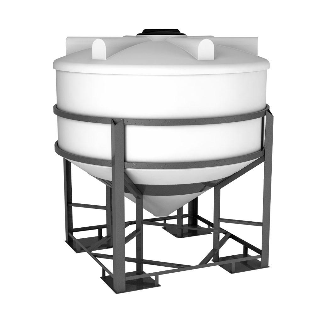 Пластиковая емкость ФМ 3000 литров в обрешетке 1