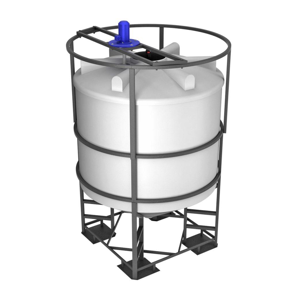 Емкость ФМ 5000 литров в обрешетке с лопастной мешалкой 1