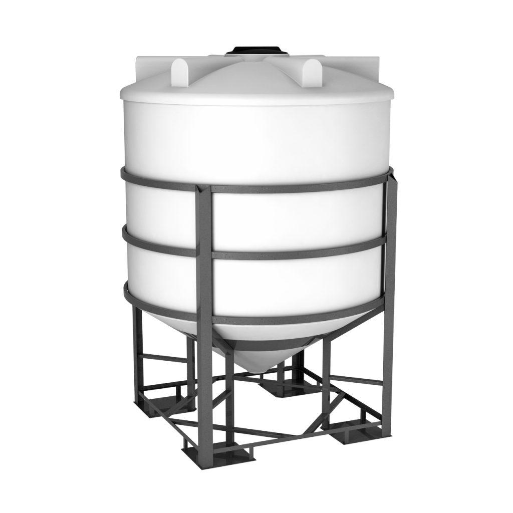 Пластиковая емкость ФМ 5000 литров в обрешетке 1