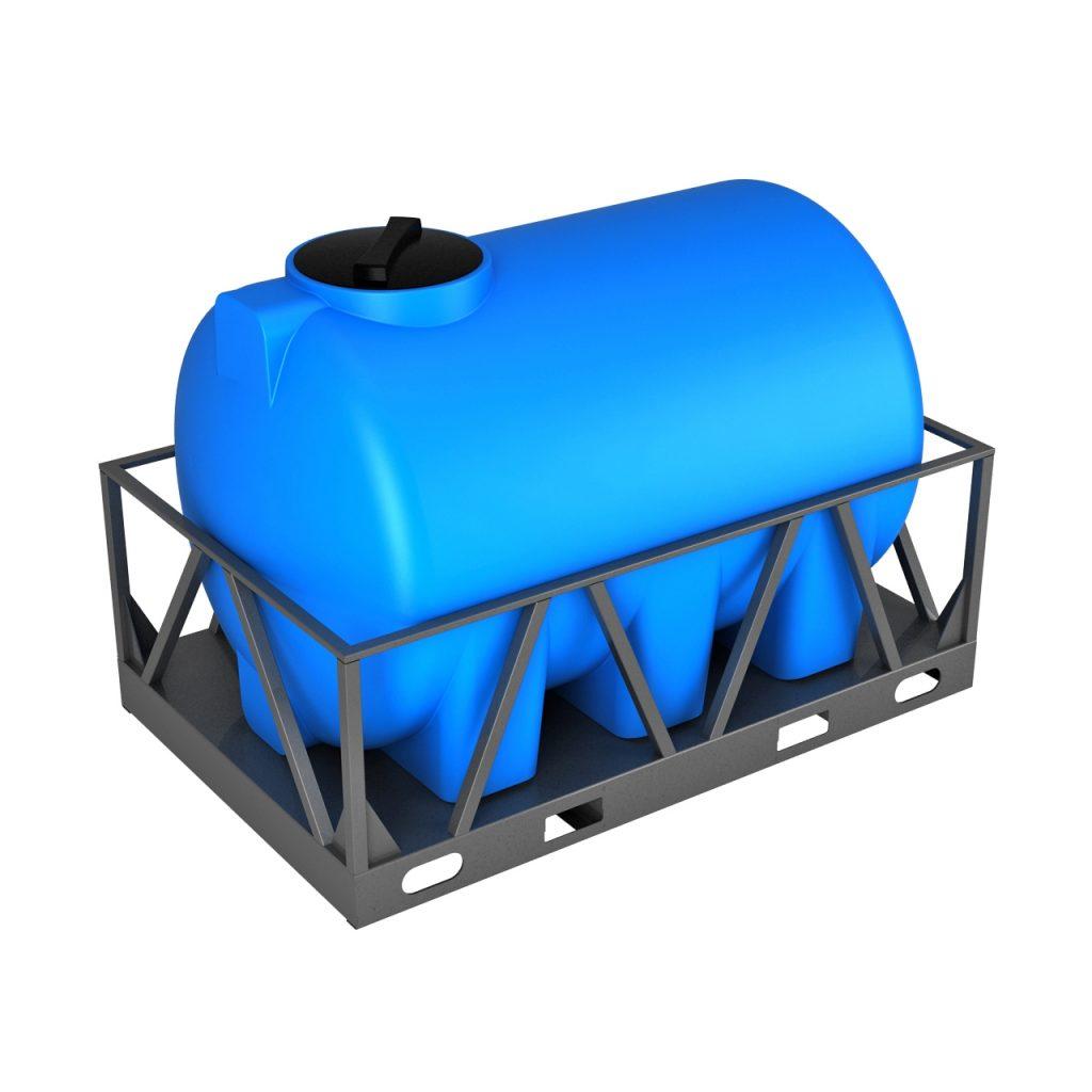 Пластиковая емкость H 2000 литров в обрешетке 1