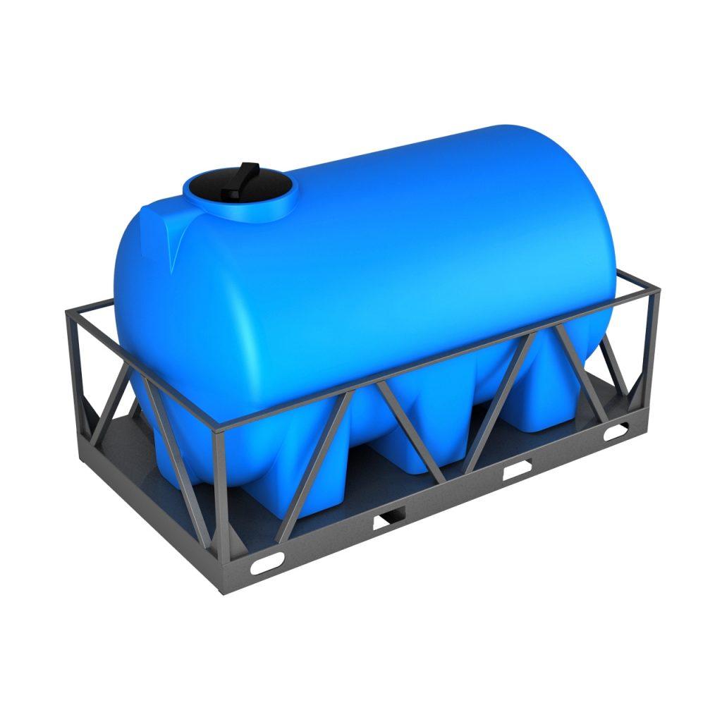 Пластиковая емкость H 3000 литров в обрешетке 1
