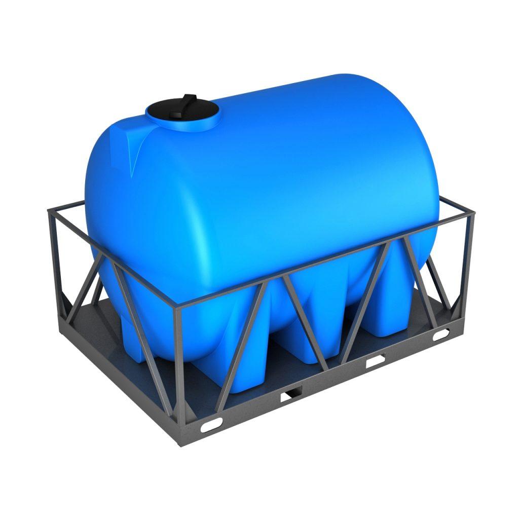 Пластиковая емкость H 5000 литров в обрешетке 1
