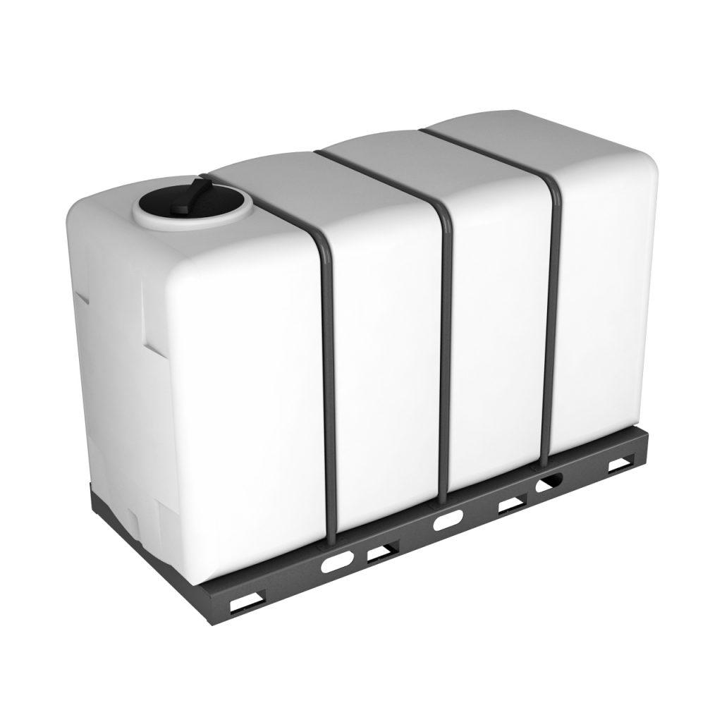 Пластиковая емкость K 4000 литров в обрешетке 1