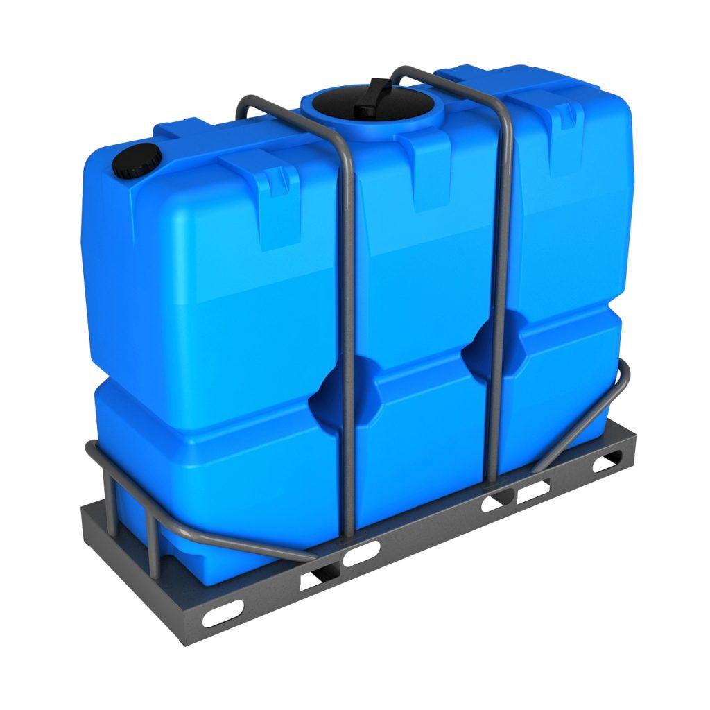 Пластиковая емкость SK 2000 литров в обрешетке 1