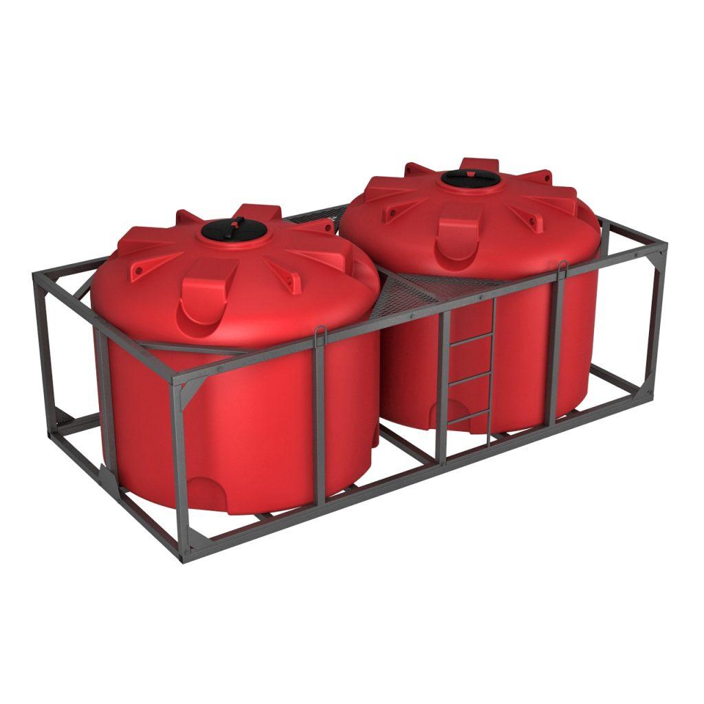Пластиковая емкость КАС 4500 литров TR в обрешетке 1