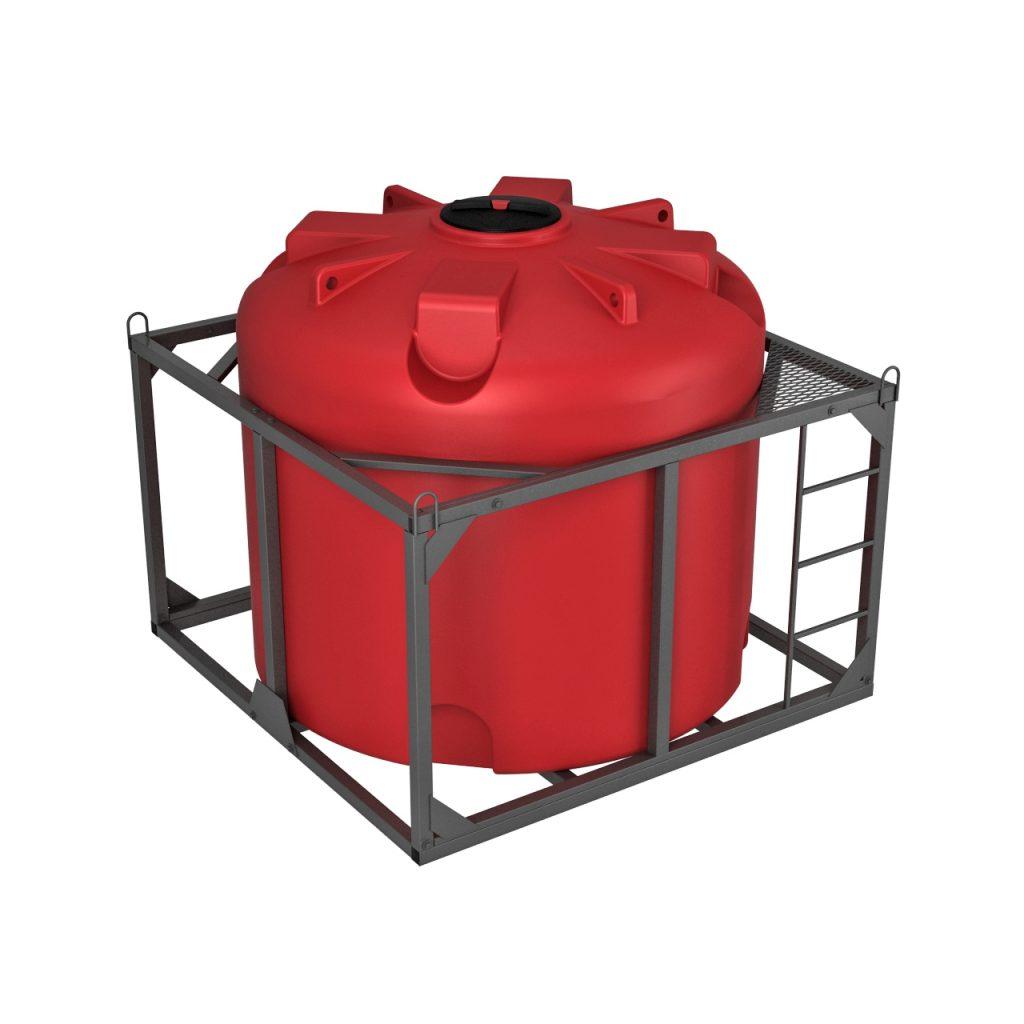 Пластиковая емкость КАС 5000 литров TR в обрешетке 1