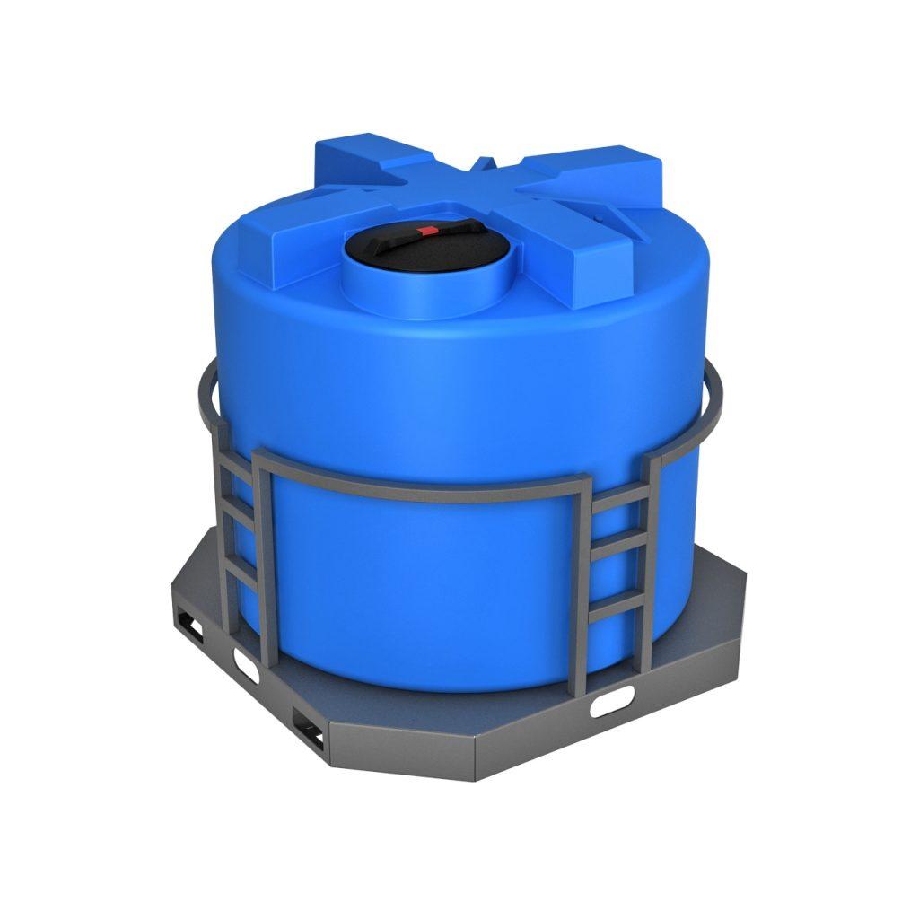 Пластиковая емкость T 2000 литров в обрешетке 1