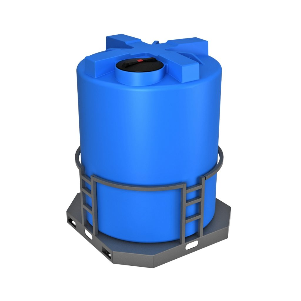 Пластиковая емкость T 3000 литров в обрешетке 1